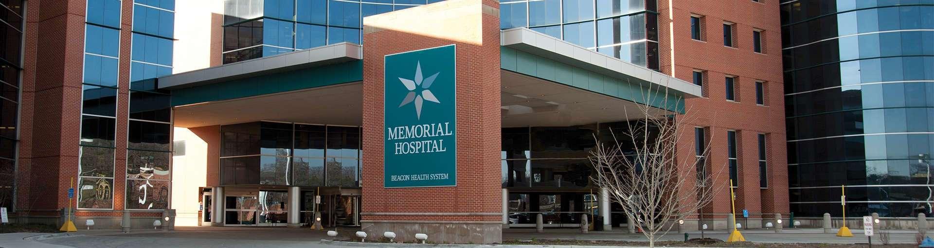 Memorial Hospital main entrance